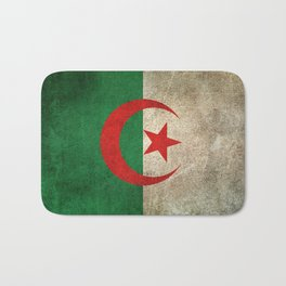 Old and Worn Distressed Vintage Flag of Algeria Bath Mat