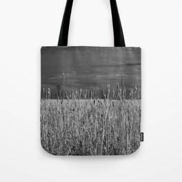 Cattails and reeds in the marsh Tote Bag
