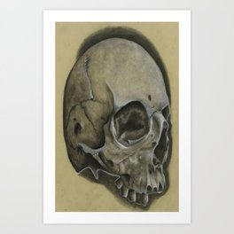 Thick skull Art Print
