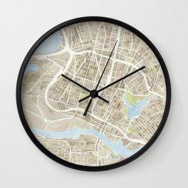 Oakland California Watercolor Map Wall Clock