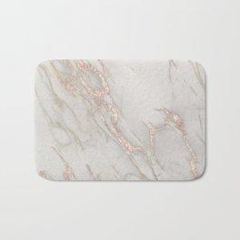 Marble Rose Gold Blush Pink Metallic by Nature Magick Bath Mat