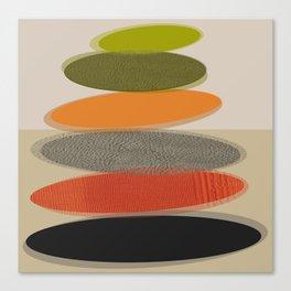 Mid-Century Modern Ovals Abstract Canvas Print