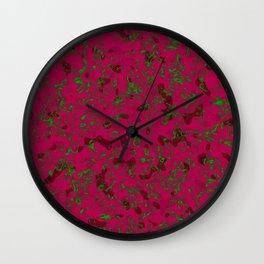 Rhubarb Spores Wall Clock