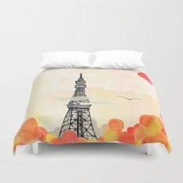 Tokyo Tower - Japan - Soft and peaceful illustration by Yves Kervoelen Duvet Cover