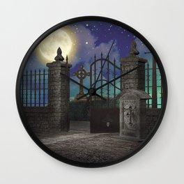Graveyard #5 * cemetary scary spooky tombstone creepy Wall Clock