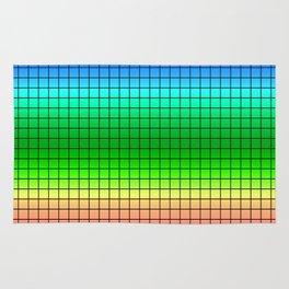 Rainbow plaid #Rainbow #plaid #Ombre #gradient Rug