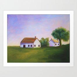 Farmhouse Tranquility Art Print
