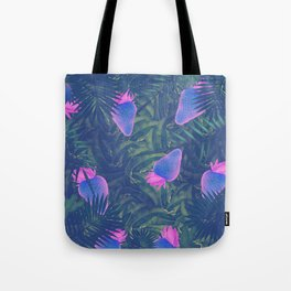Neon Strawberries in the Night #1 Tote Bag