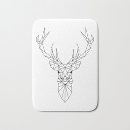 Geometric Deer Head Bath Mat