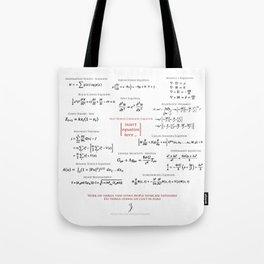 High-Math Inspiration 01 - Red & Black Tote Bag
