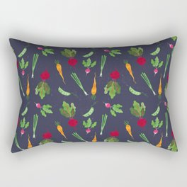 Eat more veggies! Dark version Rectangular Pillow