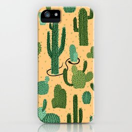 The Snake, The Cactus and The Desert iPhone Case