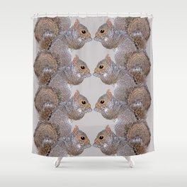 Squirrel Whispers Shower Curtain
