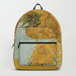 STILL LIFE: VASE WITH TWELVE SUNFLOWERS - VAN GOGH Backpack
