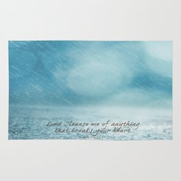 Cleanse me Psalm 139 Rug