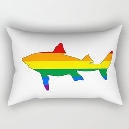 Rainbow Shark Rectangular Pillow