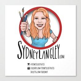 Sydney Langley Illustration Logo Canvas Print