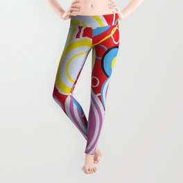 Pop Art Colour Circles Leggings