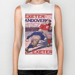 Vintage poster - Exeter vs. Andover College Football Biker Tank
