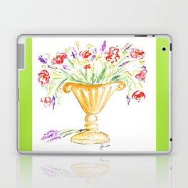 Whimsical flowers in an urn Laptop & iPad Skin