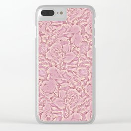 carpet of flowers in vintage pink Clear iPhone Case