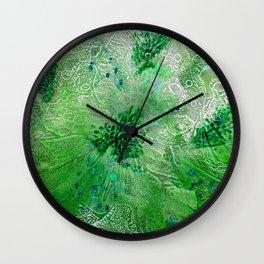 Green Lace Azalea Abstract  Wall Clock