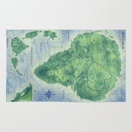 Jurassic Park - Map - Colour Rug