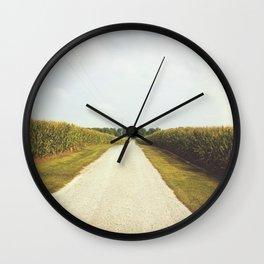 Indiana Corn Field Summers Wall Clock