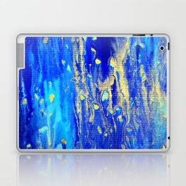 Gold & blue abstract d171013 Laptop & iPad Skin