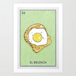 El Brunch Art Print