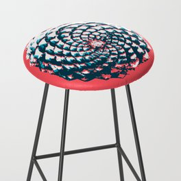 pine cone pattern in coral, aqua and indigo Bar Stool