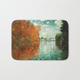 Monet : Autumn Effect at Argenteuil Bath Mat