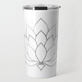 Silver Foil Lotus Flower Travel Mug