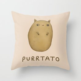 Purrtato Throw Pillow
