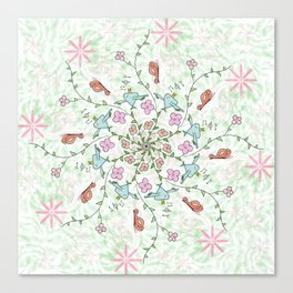 Mandala birds Canvas Print