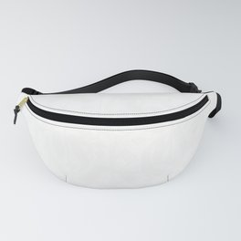 calligraphy pattern 5 - white on black  typography design Fanny Pack