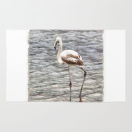 Find Your Footing And Stand Firm Watercolor Rug
