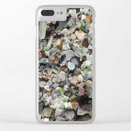 Sea glass beach in Fort Bragg Clear iPhone Case