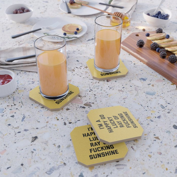 Ray Of Fucking Sunshine Funny Quote Coaster