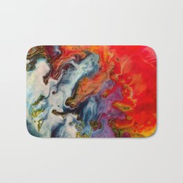 Abstract fire Bath Mat