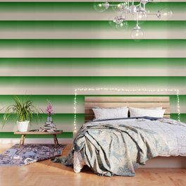 Antique White and Christmas Green Gradient Colors Wallpaper