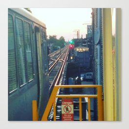 The El at Sunset Canvas Print