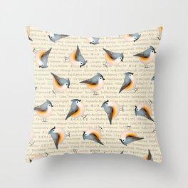 Tufty baeolophus Throw Pillow