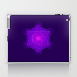 Metatron | Cube | Secret Geometry | Platonic | Matrix | Protects children Laptop & iPad Skin