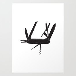 Eldem Army Knife Print Art Print