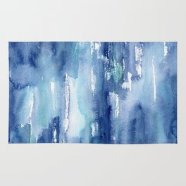 Blue vibes #2 || watercolor Rug