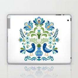 Hungarian Folk Design Blue Birds Laptop & iPad Skin