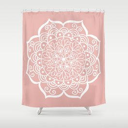 Pretty Mandala on Rose Gold Shower Curtain