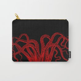 Red Vintage Octopus  Tentacles Illustration Carry-All Pouch