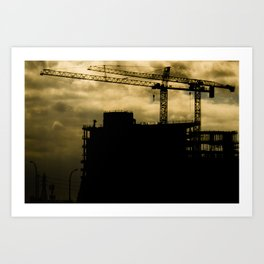 BuildingsGoingUp Art Print